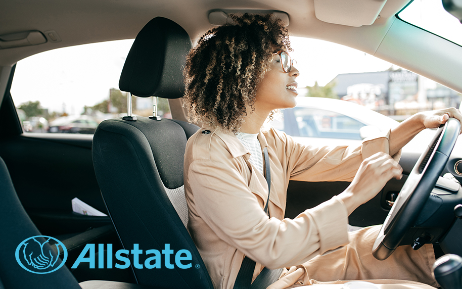 Allstate Woman Driving Car