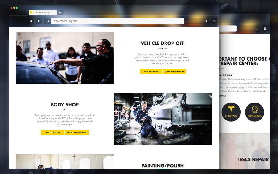 Service King Website Design