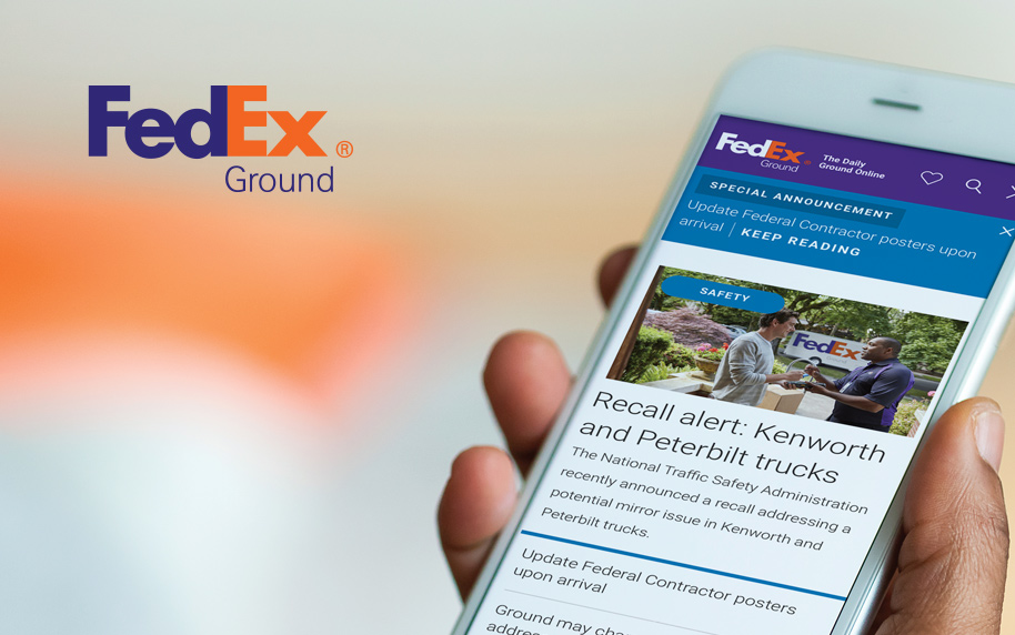 homepage visual fedex