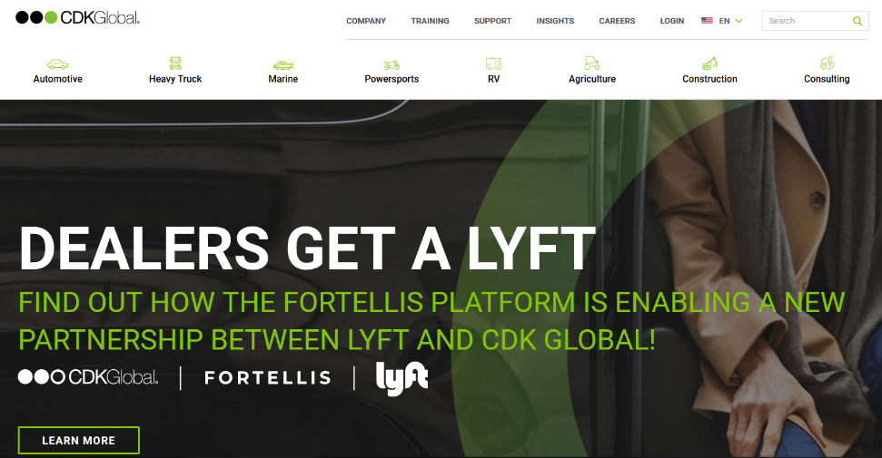 CDK Global Lyft Partnership