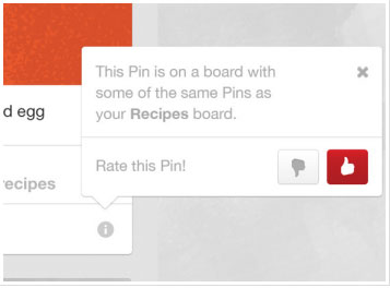 Users are in control of their related pins