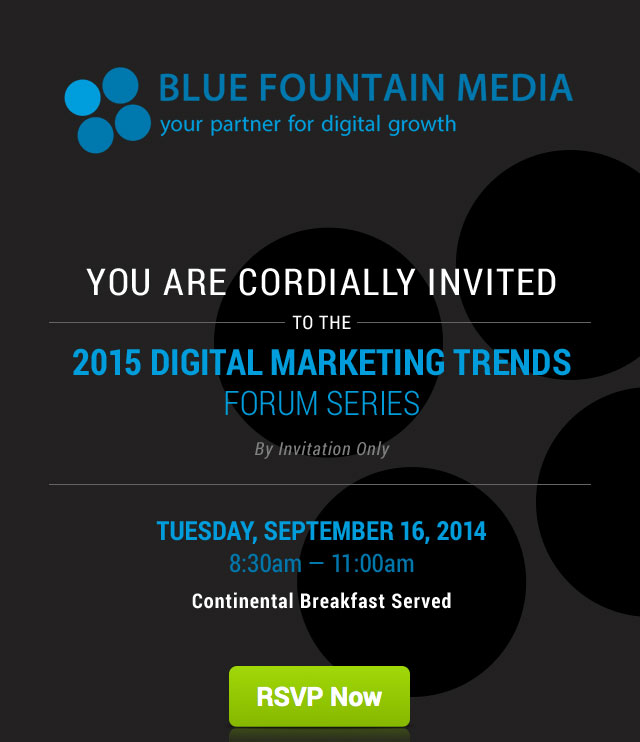 Blue Fountain Media Invitation Email