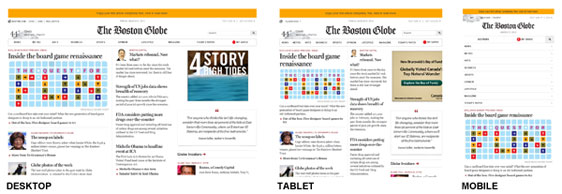 Boston Globe responsive site