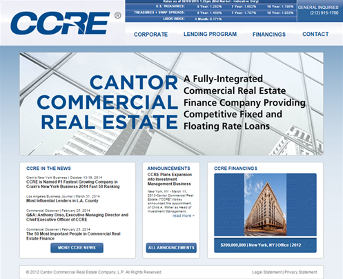 CCRE Cantor Commercial-Real-Estate---CMBS Fixed - Floating Rate Loans