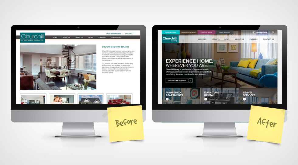 website redesign - churchill living