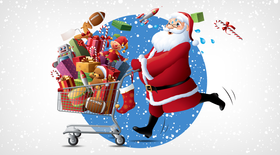 2014 Ecommerce Holiday Trends Online Shopping Infographic Blue