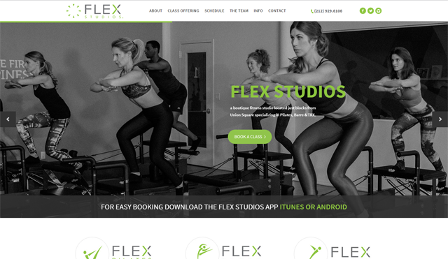 Flex Studios call to action