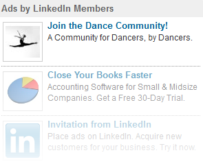 LinkedIn Ads Right Hand Side
