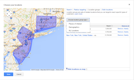 Location Targeting on AdWords