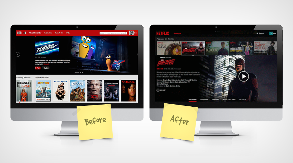 website redesign - netflix