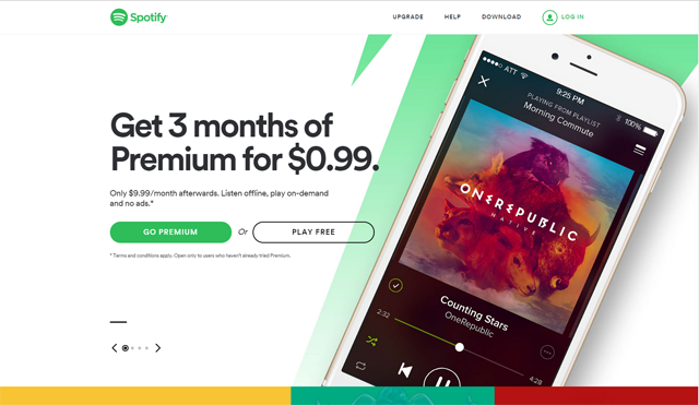 Spotify's Best Call to Action buttons