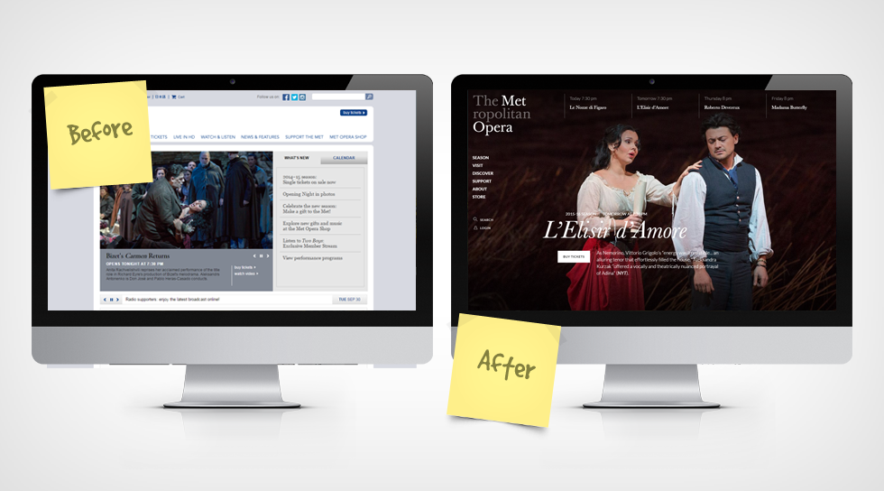 website redesign - met opera