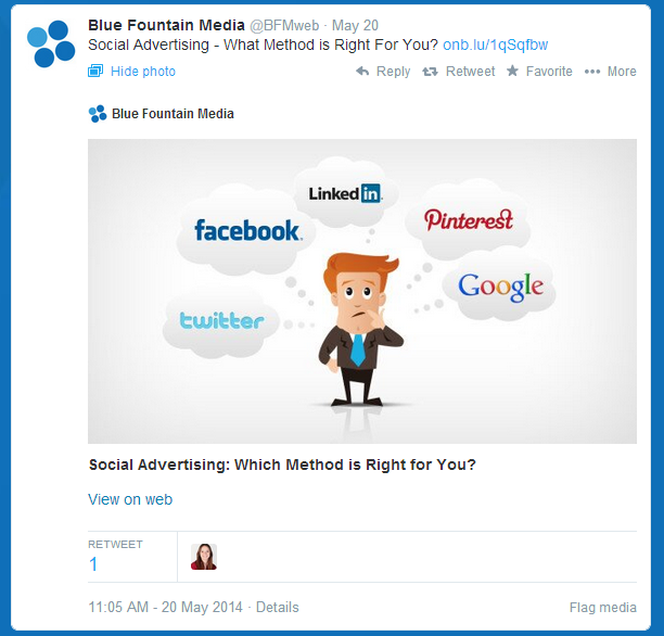 Example of a Twitter Card