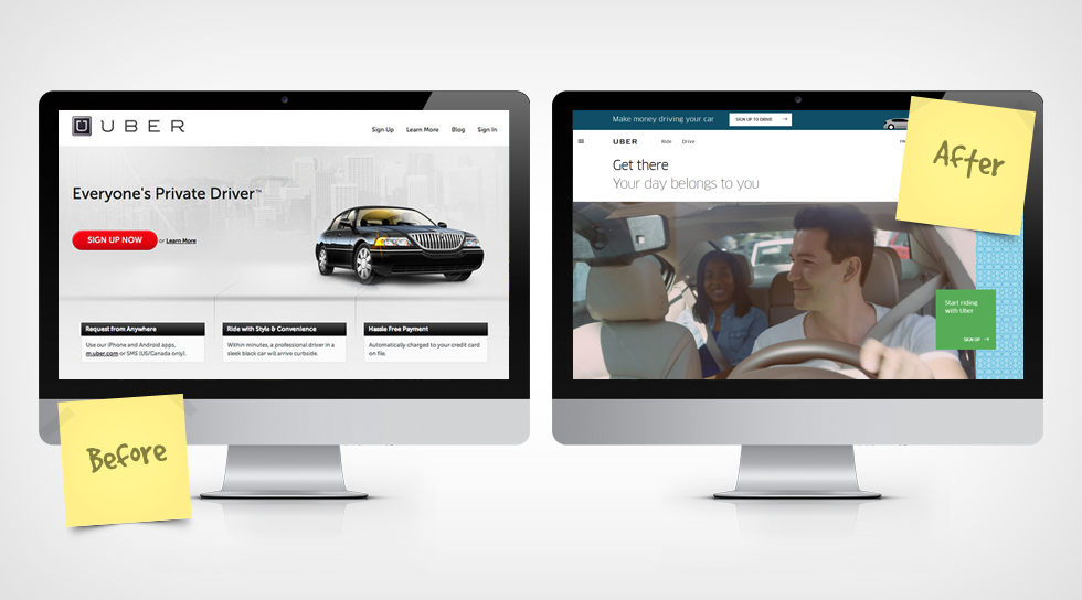website redesign - uber