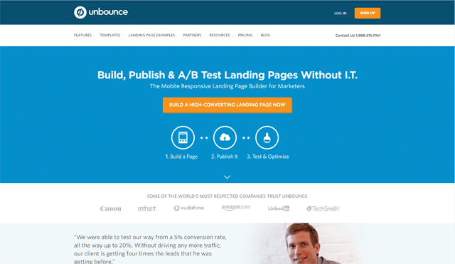 Unbounce call to action