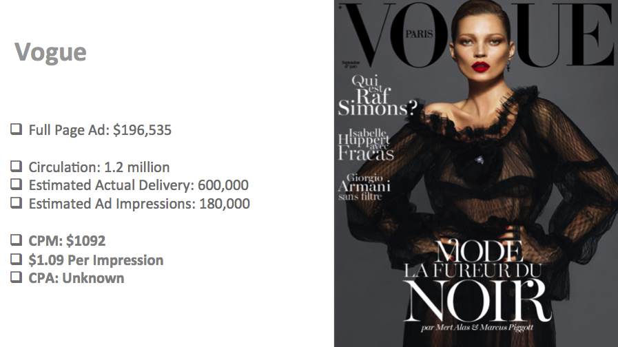 offline advertising - vogue