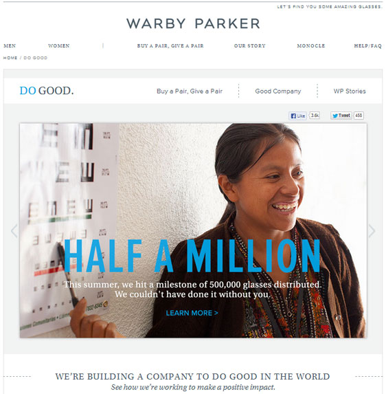 "Warby Parker's ""Do Good"""