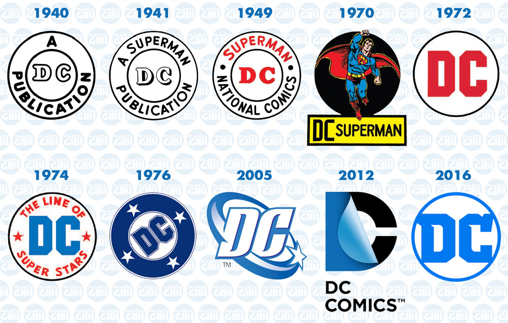 logo redesign - dc comics