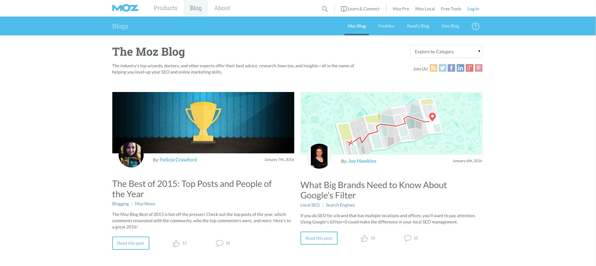 digital marketing blog - moz