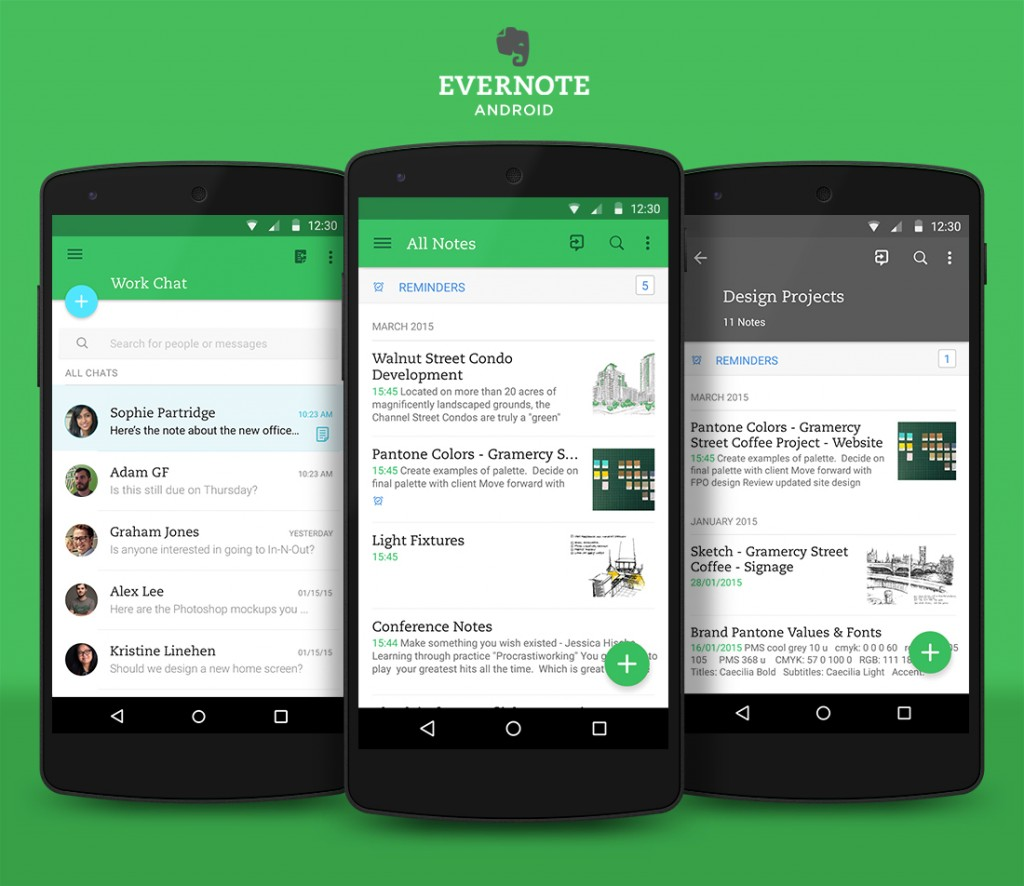 best b2b mobile apps - evernote