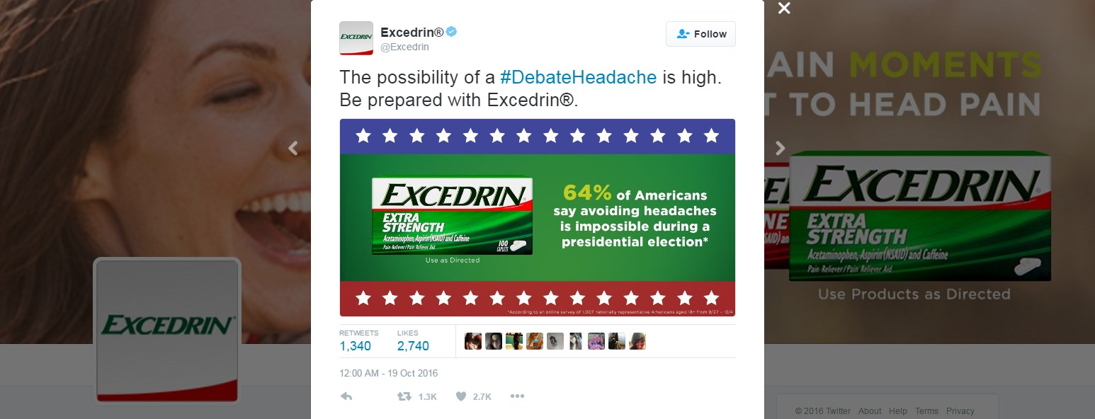 political ads - excedrin