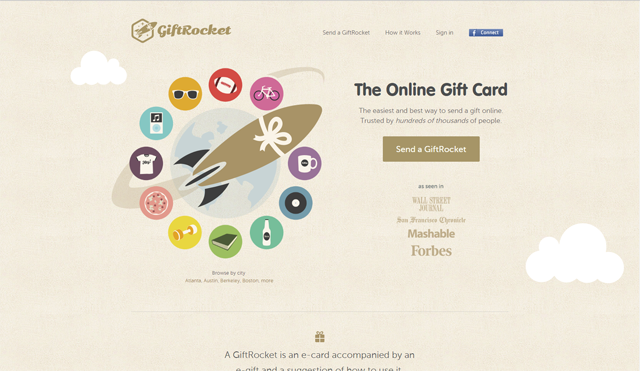 Giftrocket call to action
