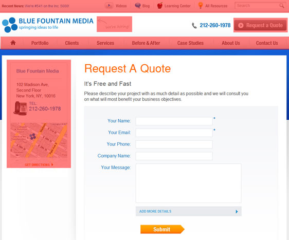Items being removed from the request a quote form.