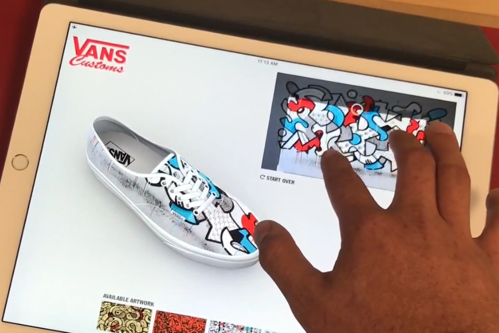 huge discount 0eda6 62bdb Source   http   footwearnews.com 2017 focus athletic-outdoor vans-new-studio-makes- custom-shoes-from-start-to-finish-15-minutes-416738   caption  The Vans ...