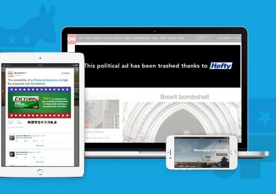 Hefty Takes Over Ad Space to Clean Up the 2016 Election