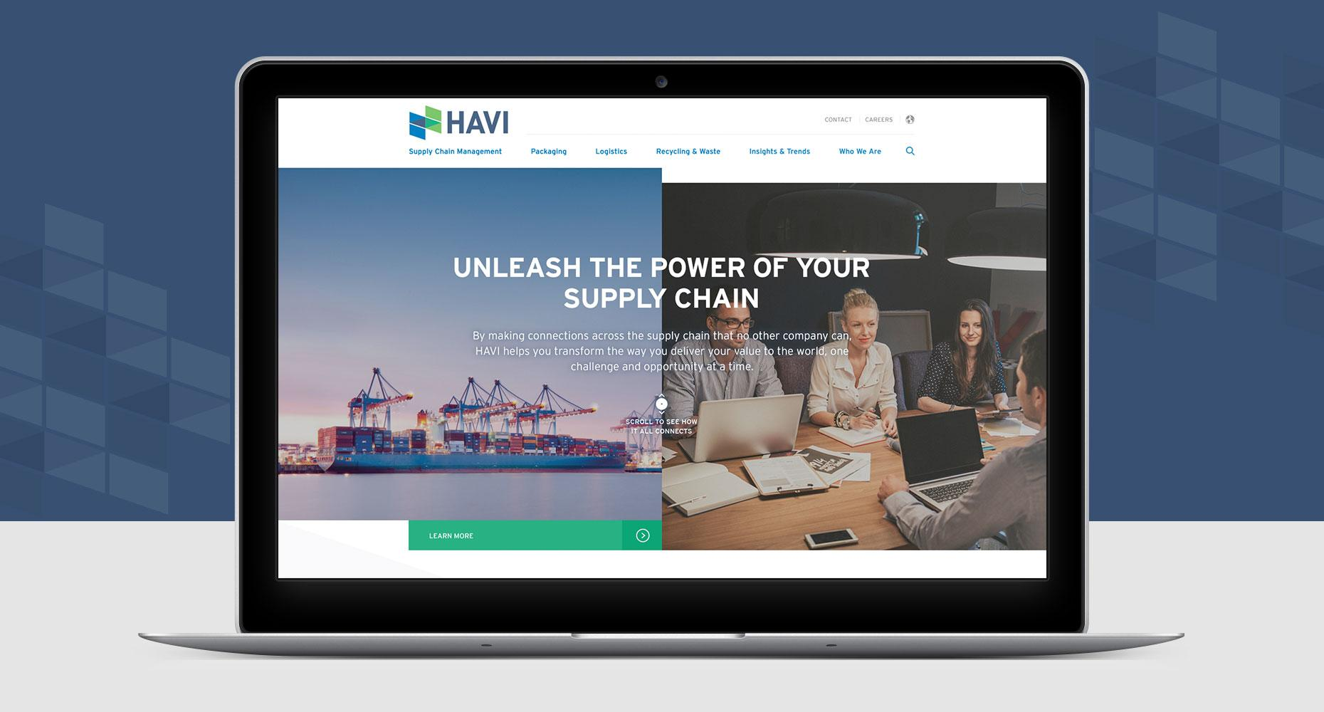 HAVI Website design